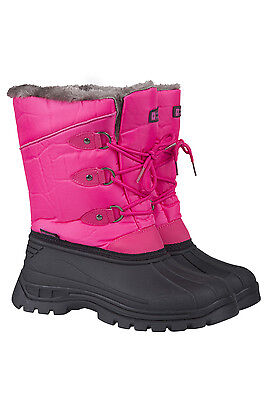 Mountain Warehouse Older Girls UK 1 EU 33 Whistler Bright Pink Snow Boots NEW