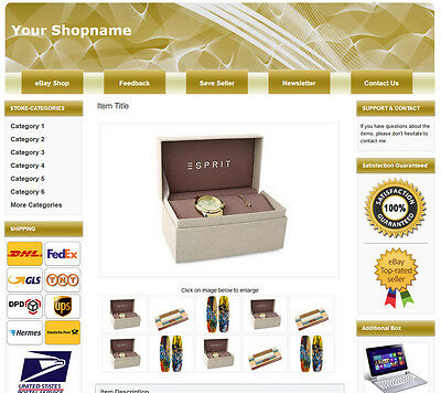 eBay Responsive Listing Template, 2019 Policy Compliant. Easy editing! - 663 -