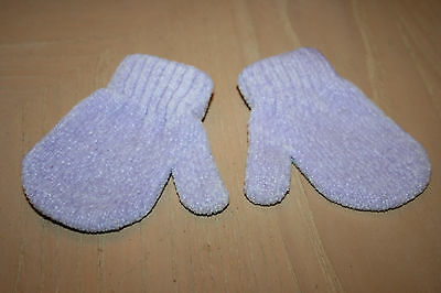 PURPLE KNIT MITTENS - Size 0-6 Months