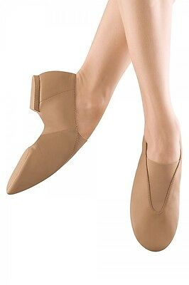 Bloch Women's Tan Slip On Jazz Shoes - Size 8