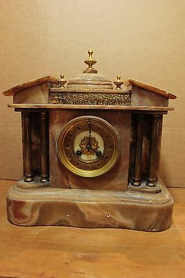 Antique Brown Marble Clock