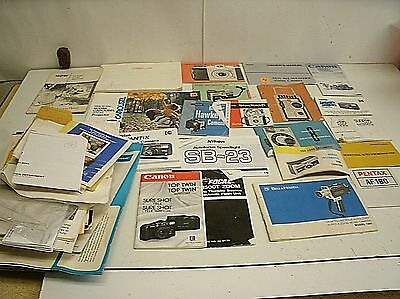 Large Lot of Instruction Manual Guide Books - Camera Movie camera projector flas