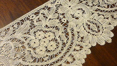 "Antique Brussels Bobbin   Lace Collector ..new Old Stock ..flounce 4.25"" By 83"""
