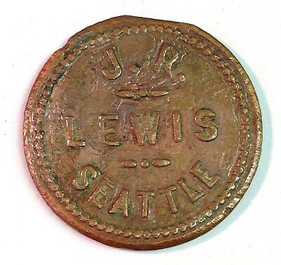J.R. LEWIS, SEATTLE (Washington) Good for 5 Cents in Trade token