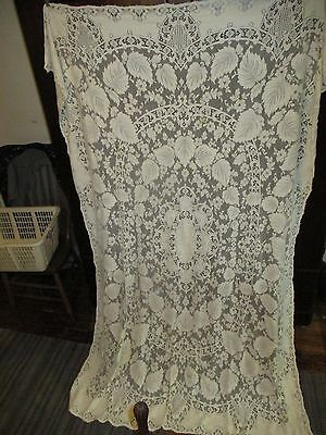 Vintage-Lace-large-Table-Cover-Canopy-Cover-Bed-Spread-91.5 inches X 61 inches