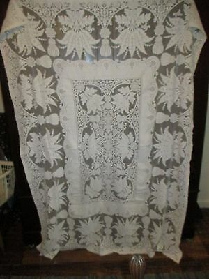 """Vintage Lace large Table Cover / Canopy /Bed Spread 57"""" X 80.5"""""""