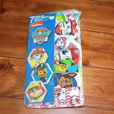 Handcraft Toddler's Paw Patrol Brief Pack of Seven Size 4T