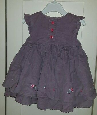 MAMAS & PAPAS - Cord Dress - Lilac - Lined - 9-12 months