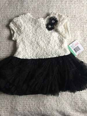 Brand New Little Me Black and White Dress (18 Months) RRP $42