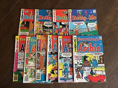 EVERYTHING'S ARCHIE / BETTY AND ME    Lot of 10 BRONZE AGE COMICS