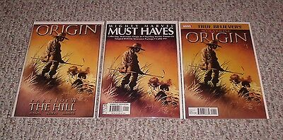 """Wolverine: Origin # 1 """"The Hill!"""" Lot of 3 - Marvel Must Haves / True Believers!"""