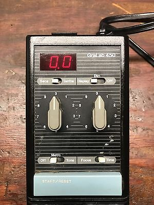 Black GraLab model 450 Darkroom Enlarger Timer Digital Enlarging Exposure Clock