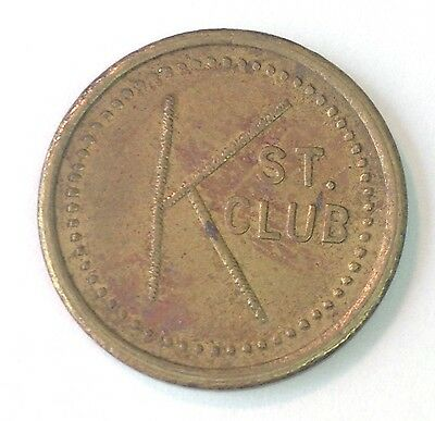 K ST. CLUB, TACOMA WA, Good for 5 Cents in Trade token