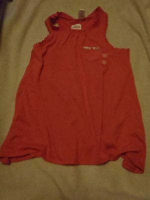 Gymboree Girls Embroidered Flower Blouse Shirt Sleeveless Top Size 7 NWT