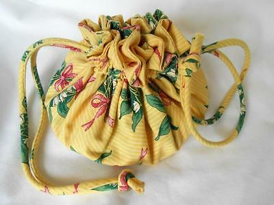 Vera Bradley HOPE YELLOW Drawstring jewelry pouch MINT Pre-owned