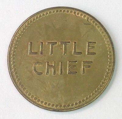 LITTLE CHIEF, San Francisco CA(?), Good for 50 Cents in Trade token
