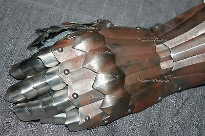 Very Rare Gothic Medieval German Articulating Gauntlet 15th-16th Century Armor