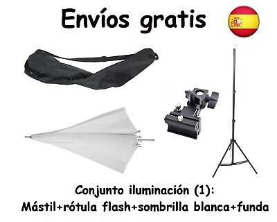 KIT ILUMINACION: MASTIL, ROTULA Y SOFTBOX (octogonal 80 cm)