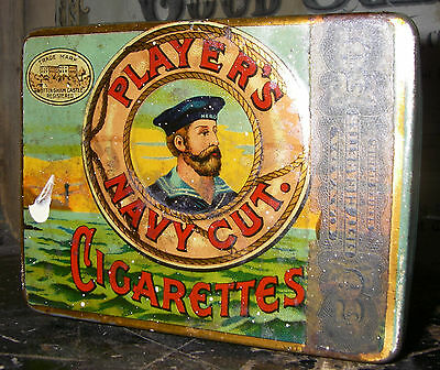 Vintage Player's Navy Cut Cigarettes Tobacco Tin England