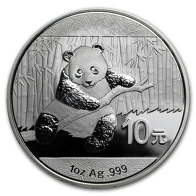 2014 Chinese Panda 1 oz Silver Coin In Mint Capsule