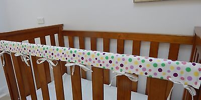 2 x Baby Cot Rail Cover Crib Teething Pad - Jelly Dots - *REDUCED* SET OF TWO