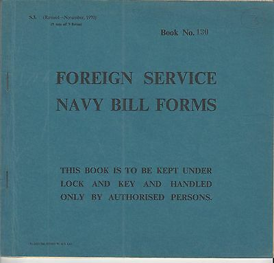 Great Britain Royal Naval Ships Bills Of Exchange Used And Uncancelled
