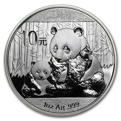 2012 Chinese Panda 1 oz Silver Coin In Mint Capsule