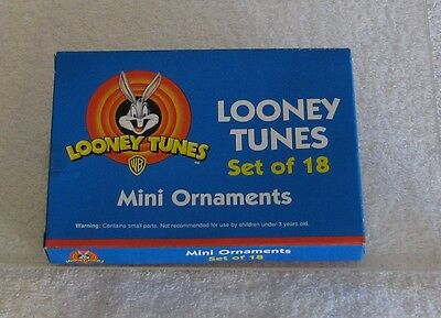 Looney Tunes: Set of 18 Mini Christmas Ornaments - New - Unopened