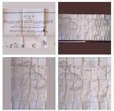1853 Map Of The United States. 7 FEET (80+ Inches). Original.