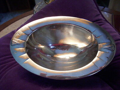 Antique Rare Art Deco Community Plate Silver/silver Plated? # 15987 Footed Bowl.