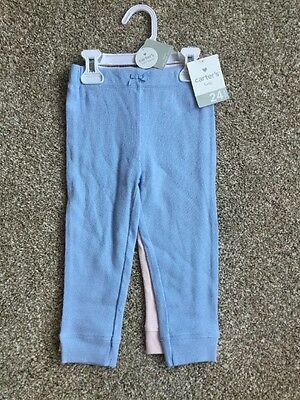 Carter's 2 Pants Size 24 Months - Blue And Pink