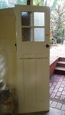 Vintage door with glass