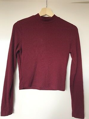 All About Eve Crop - Long Sleeve Top  - Size 10