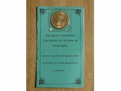 1983 Year Of The Bible Bronze Coin And Pamphlet