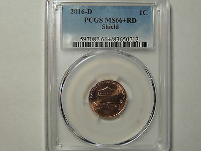 2016 D PCGS MS66+  RD Shield Lincoln Penny