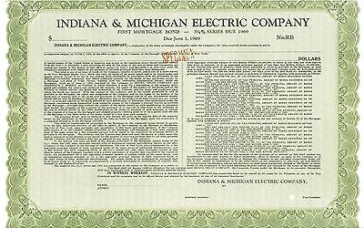 INDIANA & MICHIGAN ELECTRIC COMPANY First Mortgage 3-3/4% Series Bond Due 1969