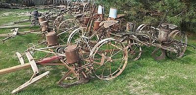 (Choice) of 1 from 6 Antique 2 Row Horse/Mule Drawn Corn Planter John Deere & IH