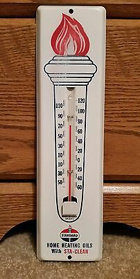 Vintage Metal  Standard Gas Oil Thermometer Exc. Cond