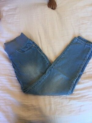 Next Maternity Relaxed Skinny Jeans (Size 8P - Petite)
