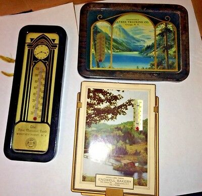 3 Vintage Advertising Thermometer Picture Print From Upstate New York