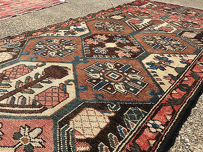 3x10 HAND KNOTTED PERSIAN IRAN HERIZ RUG RUNNER ANTIQUE WOVEN 3 x 10 wool 4 9