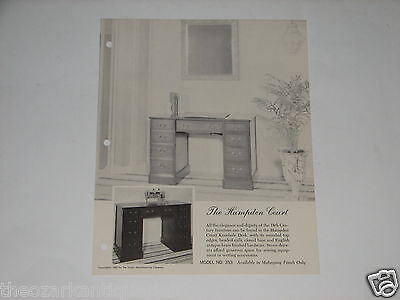 Singer Sewing Machine advertising brochure The Hampden Court Model #353 FREE SH