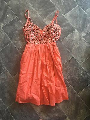 Ladies Size 8 Pink Cocktail Dress Brand New