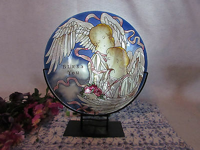 Joan Baker Designs Stained Glass Angels Of Heaven W Stand And Candle Holder