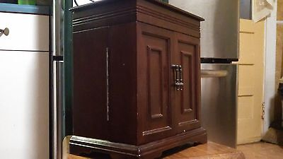 LARGE Vintage WOODEN CHEST Drawers - Jewelry Display WOOD BOX Organizer HUMIDOR
