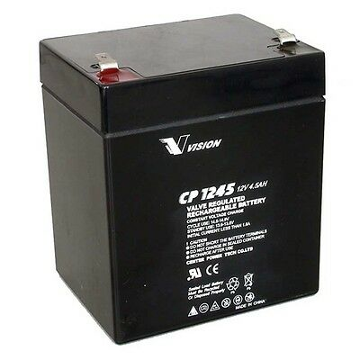 Vision CP1245 12V 4.5Ah AGM 5Yrs Service Life Sealed Lead Acid Battery NP1250