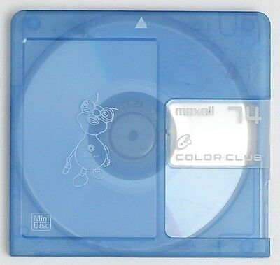 Genuine Maxell 'Color Club' Blue MiniDisc 74 Minutes w/ Case (x1)