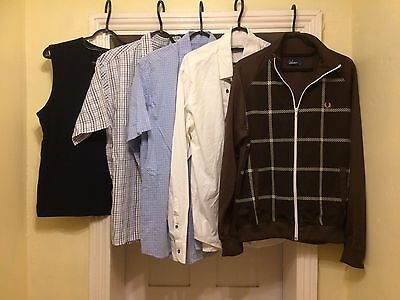 Joblot Mens Branded Shirts/tops Size M- Fred Perry Etc