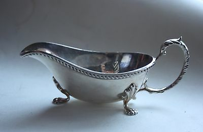 Antique Gravy Sauce Boat  - Silver Plated Epns.