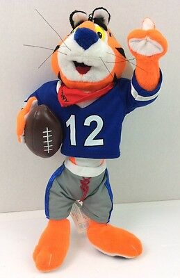 "Kelloggs Tony The Tiger Football Plush 16"" Stuffed Frosted Flakes Network NEW"